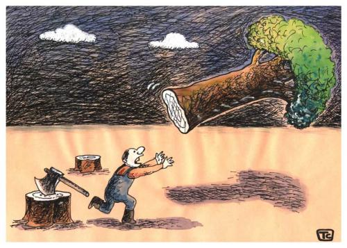 Cartoon: save ecology (medium) by tchuntra tagged save,ecology