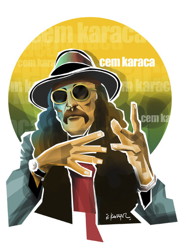 Cartoon: CEM KARACA (medium) by donquichotte tagged cmkrc