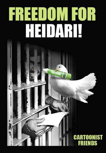 Cartoon: FREEDOM FOR HEIDARI!!! (medium) by donquichotte tagged free