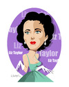 Cartoon: ELIZABETH TAYLOR -ACTRESS (small) by donquichotte tagged liz