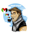 Cartoon: FOR ACTIVIST VITTORIO ARRIGONI (small) by donquichotte tagged vittorio