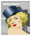 Cartoon: MARLENE DIETRICH -face- (small) by donquichotte tagged mrln