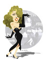 Cartoon: -RITA HAYWORTH- (small) by donquichotte tagged rita