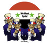 Cartoon: sam uncles -we want syria!- (small) by donquichotte tagged syria
