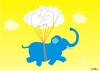 Cartoon: elefhant (small) by claude292 tagged yellow,elefhant