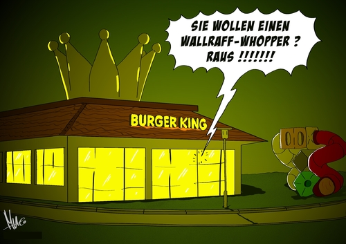 Cartoon: Wallraff-Whopper (medium) by Marcus Gottfried tagged burger,king,mcdonald,essen,restaurant,restaurattester,wallraff,undercover,journalist,reporter,tv,marcus,gottfried,cartoon,karikatur,keime,bakterien,tester,fernsehen,reportage,schnellimbiss,schnellrestaurant,drive,in,burger,king,mcdonald,essen,restaurant,restaurattester,wallraff,undercover,journalist,reporter,tv,marcus,gottfried,cartoon,karikatur,keime,bakterien,tester,fernsehen,reportage,schnellimbiss,schnellrestaurant,drive,in
