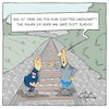 Cartoon: Schotterlandschaft (small) by Marcus Gottfried tagged schotter,schottergarten,landschaft,grün,insekten,blumen,nahrung,bahn,bahntrasse,bahnlinie,bundesbahn,gleise,eisenbahngleise