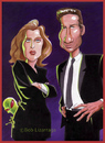 Cartoon: The X Files (small) by Batfink tagged caricature,files
