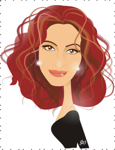 Cartoon: Julia Roberts (medium) by Nicoleta Ionescu tagged julia,roberts