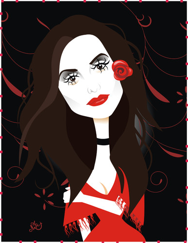 Cartoon: Penelope Cruz (medium) by Nicoleta Ionescu tagged penelope,cruz