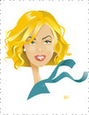 Cartoon: Charlize Theron (small) by Nicoleta Ionescu tagged charlize,theron