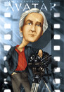 Cartoon: James Cameron (small) by Nicoleta Ionescu tagged avatar,movie,director,titanic,james,cameron