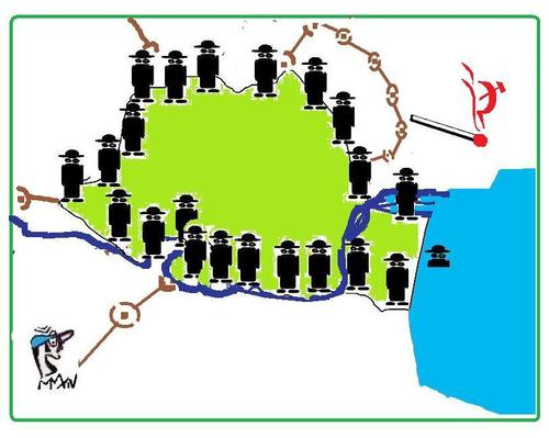 Cartoon: BORDERS COVER OPERATION (medium) by STOPS tagged undercover,threat,eastern,defence