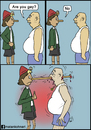 Cartoon: Are you gay? (small) by matan_kohn tagged gay,funny,comics,pinochio,haha,matan,kohn,blood