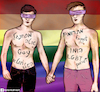 Cartoon: Gay Rights (small) by matan_kohn tagged gay,pride,love,pink,homosexual,rights,men