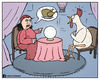 Cartoon: Vegetarianism (small) by matan_kohn tagged vegetarianism,vegetarian,chicken,fortune,teller,matan,kohn,funny