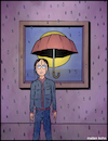 Cartoon: Why does it always rain on me? (small) by matan_kohn tagged illustration,toon,caricature,funny,rain,umbrela,drops,fog,sad,loveyourself,design,music,memes,meagainsttheworld,digitalart,art,goodvibes,november,nature,winter,wind