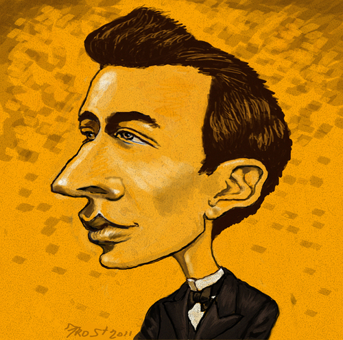 Cartoon: Young Sergei Rachmaninoff (medium) by frostyhut tagged russian,composer,pianist,piano,music,classical,romantic,rachmaninoff