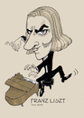 Cartoon: Franz Liszt (small) by frostyhut tagged liszt,franz,ferenc,romantic,composer,classical,pianist,piano,virtuoso,hungarian