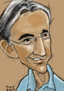 Cartoon: Michael Tilson Thomas (small) by frostyhut tagged tilsonthomas conductor american music classical