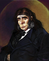 Cartoon: Neanderthal portrait (small) by frostyhut tagged neanderthal,caveman,prehistoric,ancient,man,anthropology