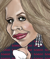 Cartoon: Renee Fleming (small) by frostyhut tagged opera diva renee fleming singer