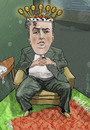 Cartoon: Yefim Bronfman (small) by frostyhut tagged bronfman pianist classical music russian heart crown king royal