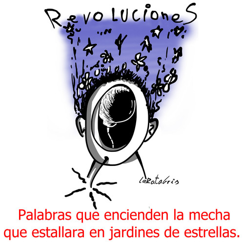 Cartoon: Imaginando cielos (medium) by LaRataGris tagged revolucion
