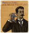 Cartoon: Der Mobiltelefant (small) by Kossak tagged mobiltelefon,telefon,handy,smartphone,phone,elefant,elephant,alt,vintage,illustration,old,werbung,mann,telefonieren