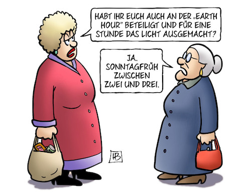 Cartoon: Earth Hour (medium) by Harm Bengen tagged earth,hour,umweltschutz,stunde,licht,zeitumstellung,sommerzeit,susemil,haus,bengen,cartoon,karikatur,earth,hour,umweltschutz,stunde,licht,zeitumstellung,sommerzeit,susemil,haus,bengen,cartoon,karikatur