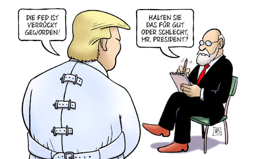 Cartoon: FED ist verrückt (medium) by Harm Bengen tagged fed,notenbank,usa,trump,arzt,psychiater,verrückt,zwangsjacke,harm,bengen,cartoon,karikatur,fed,notenbank,usa,trump,arzt,psychiater,verrückt,zwangsjacke,harm,bengen,cartoon,karikatur