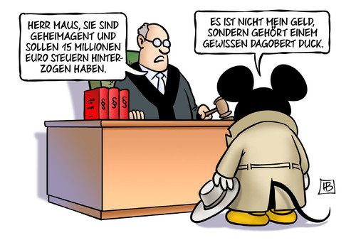 Cartoon: Maus-Prozess (medium) by Harm Bengen tagged geheimagent,spion,micky,maus,15,millionen,steuern,steuerhinterziehung,prozess,gericht,geld,dagobert,duck,richter,harm,bengen,cartoon,karikatur,geheimagent,spion,micky,maus,15,millionen,steuern,steuerhinterziehung,prozess,gericht,geld,dagobert,duck,richter,harm,bengen,cartoon,karikatur