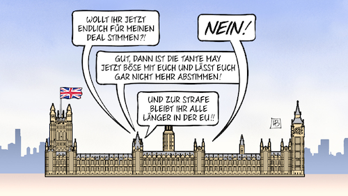 Cartoon: May böse (medium) by Harm Bengen tagged brexit,deal,abstimmung,nein,tante,may,böse,strafe,großbritannien,westminister,parlament,europa,uk,gb,harm,bengen,cartoon,karikatur,brexit,deal,abstimmung,nein,tante,may,böse,strafe,großbritannien,westminister,parlament,europa,uk,gb,harm,bengen,cartoon,karikatur