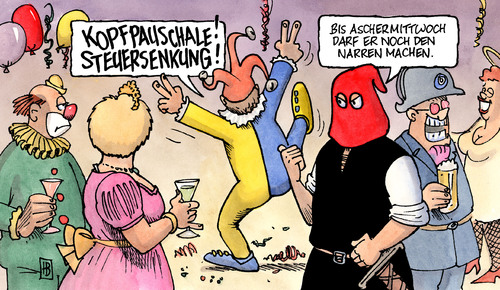 Cartoon: Narren (medium) by Harm Bengen tagged narren,karneval,fasching,aschermittwoch,fdp,westerwelle,steuersenkung,kopfpauschale,liberale,narren,karneval,fasching,aschermittwoch,fdp,westerwelle,steuersenkung,kopfpauschale,liberale