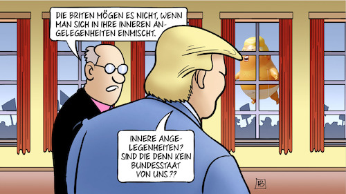 Cartoon: Trump-Einmischung (medium) by Harm Bengen tagged trump,usa,gb,uk,einmischung,briten,inneren,angelegenheiten,bundesstaat,ballon,demonstration,brexit,farage,boris,johnson,premierminister,harm,bengen,cartoon,karikatur,trump,usa,gb,uk,einmischung,briten,inneren,angelegenheiten,bundesstaat,ballon,demonstration,brexit,farage,boris,johnson,premierminister,harm,bengen,cartoon,karikatur