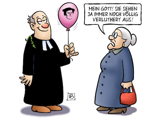 Cartoon: Verluthert (medium) by Harm Bengen tagged reformationstag,2017,feiertag,luther,500,pastor,susemil,harm,bengen,cartoon,karikatur,reformationstag,2017,feiertag,luther,500,pastor,susemil,harm,bengen,cartoon,karikatur