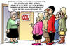 Cartoon: CDU-Frauen (small) by Harm Bengen tagged cdu,frauen,frauenquote,bundestag,fraktion,kompromiss,flexiquote,gleichberechtigung,merkel,leyen,schröder,harm,bengen,cartoon,karikatur