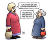 Cartoon: Clinton-Kandidatur (small) by Harm Bengen tagged hillary,clinton,kandidatur,oma,präsidentin,präsident,usa,wahlen,demokraten,harm,bengen,cartoon,karikatur