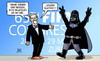 Cartoon: Darth Blatter (small) by Harm Bengen tagged darth,vader,starwars,präsident,fifa,jahreskongress,schweiz,blatter,korruption,bestechung,fussball,harm,bengen,cartoon,karikatur