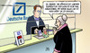 Cartoon: Deutsche Bank Milliardenverlust (small) by Harm Bengen tagged deutsche,bank,milliardenverlust,milliarden,verlust,investment,geld,fitschen,jain,konto,harm,bengen,cartoon,karikatur