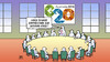 Cartoon: G20 Brisbane (small) by Harm Bengen tagged g20,brisbane,gipfel,ukraine,russland,krieg,kalt,schneemann,kommentar,harm,bengen,cartoon,karikatur