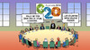 Cartoon: G20 plus Eins (small) by Harm Bengen tagged g20,brisbane,gipfel,stuhl,helene,fischer,harm,bengen,cartoon,karikatur
