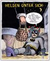 Cartoon: Helden unter sich (small) by Harm Bengen tagged helden,batman,miss,marple,superheld,comic,krimi