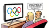 Cartoon: Olympia-Rating (small) by Harm Bengen tagged moodys,ratingagentur,euro,eurokrise,usa,eu,banken,aaa,olympiade,olympische,ringe