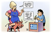Cartoon: OXI (small) by Harm Bengen tagged oxi,stier,ochse,abstimmung,junge,kind,mutter,referendum,frist,europa,grexit,troika,institutionen,eu,ezb,iwf,griechenland,pleite,schulden,harm,bengen,cartoon,karikatur