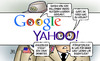 Cartoon: Yahoo-Daten (small) by Harm Bengen tagged daten,500,millione,yahoo,google,nutzer,user,datendiebstahl,hacker,staaten,geheimdienste,harm,bengen,cartoon,karikatur