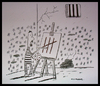 Cartoon: Prisoner II (small) by cizofreni tagged prisoner mahkum hapishane prison painter ressam