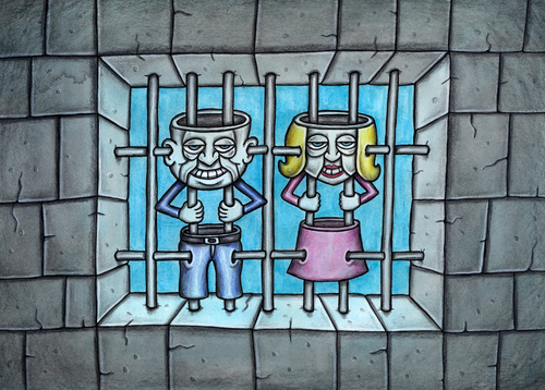 Cartoon: Prison bars (medium) by vladan tagged prison,bars