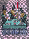 Cartoon: card players (small) by vladan tagged card,players