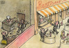 Cartoon: Restaurant (small) by vladan tagged restaurant,rich,and,poor